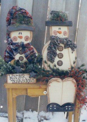 Snowman Bench Sitter