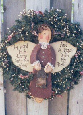 Thy Word Angel wreath