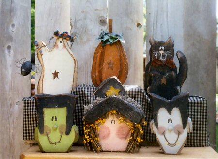 Halloween Carved Chunky Set