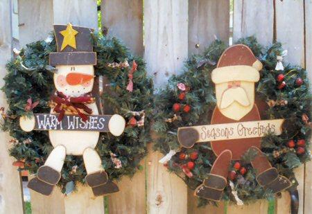 Snowman Santa Wreath Set
