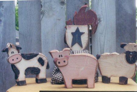 Farm Animals Carved Chunky