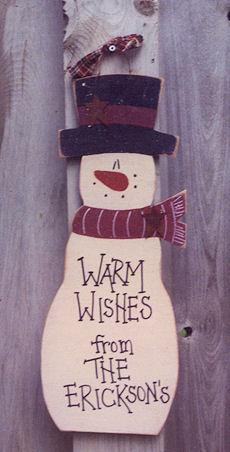 Warm Wishes Luan Snowman